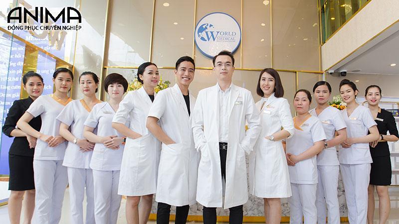 Đồng phục bác sĩ - y tá bệnh viện spa